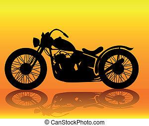 motocicleta, viejo