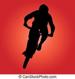 motociclista de montaña