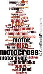 motocross, 単語, 雲