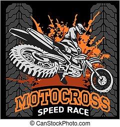 motocross, 運動, 象征