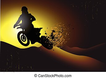 motocross background design with gr
