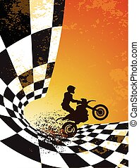 motocross background design with grunge element and place...