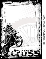 motocross background in the vectors