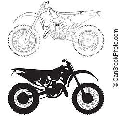 motocross, bicicleta