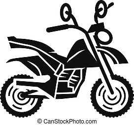 Motocross bike icon, simple style - Motocross bike icon....