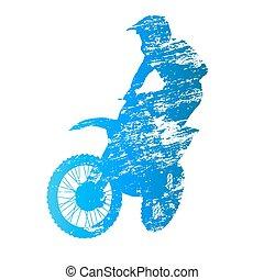 motocross, cavaleiro