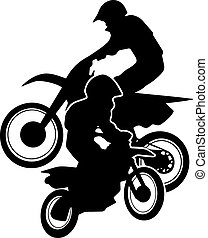 Motocross Dirt Bikes Silhouette