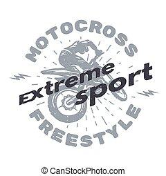 Motocross extreme sport.