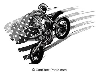 motocross, extremo, cruz, deporte, logotipo, motor