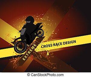 motocross grunge background