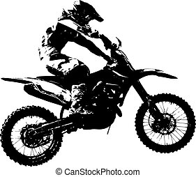 motocross, illustration., participates, championship.,...
