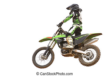 Motocross Isolated - Isolated image of a motocross...