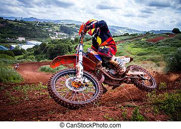 motocross, jinete