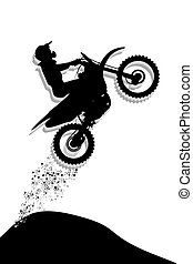 Motocross Jump silhouette illustration
