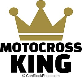 Motocross king with crown