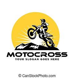 Motocross logo ,  motocycle vector