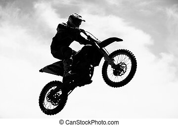 Motocross rider in action, Extreme sport