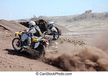 motocross, piattaforma girevole