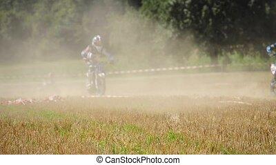 Motocross race, called madcross in Boebingen Germany,...