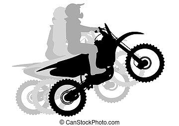 Motocross Race silhouette illustration