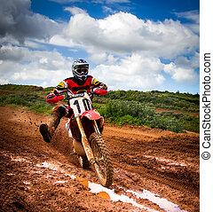 Motocross rider in a championship