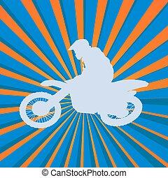 Motocross rider silhouette