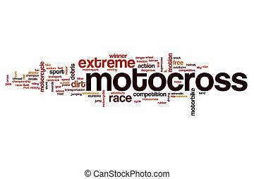 motocross, słowo, chmura