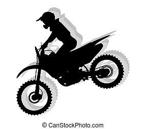 Motocross silhouette illustration