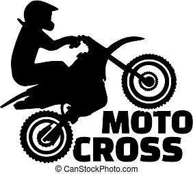 Motocross silhouette with word