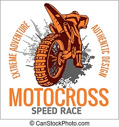 motocross, sport, emblème