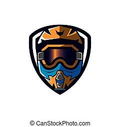 Motocross sport emblem