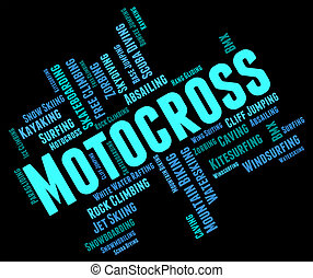 Motocross Words Indicates Text Race And Enduro