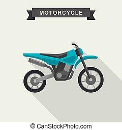 Motoctoss enduro bike.