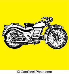 motocycle, レトロ, moto, クラシック, 型