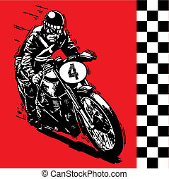 Motocycle - moto motocycle retro vintage classic vector...