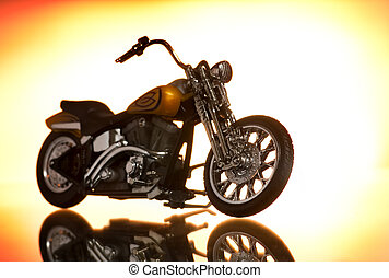 Motocycle on abstract background