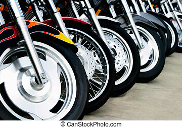 motocyclette, bits:, roues