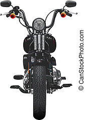 motocyclette, frontal, vue
