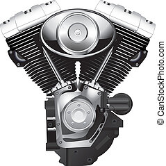 motocyclette, moteur