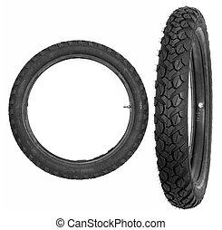 motocyclette, pneu