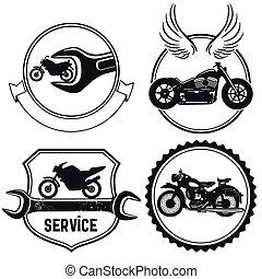 motocyclette, signes