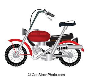 motocyclette, transport, facilité
