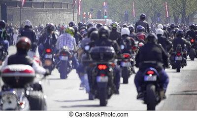 motocyclettes, -, critique, équitation, mass., hd