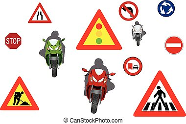 motocyclisme, panneaux signalisations
