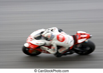 motogp, correndo, (blurred)