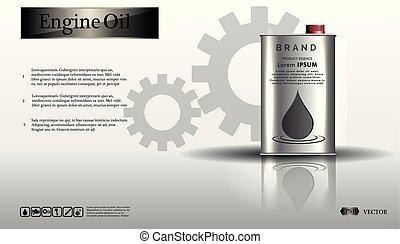 motoröl, hintergrund, krug, eisen, weißes, ausrüstung