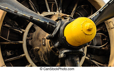 motor, årgång, airplane
