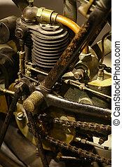 motor, årgång, motorcykel