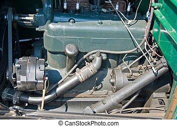 motor, årgång, original, bil