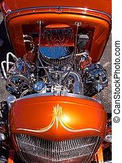 motor, auto, hete staaf, op bestelling gebouwd